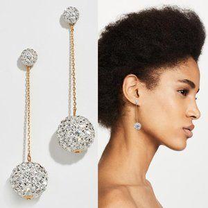 NEW Kate Spade Red Razzle Dazzle Linear Earrings